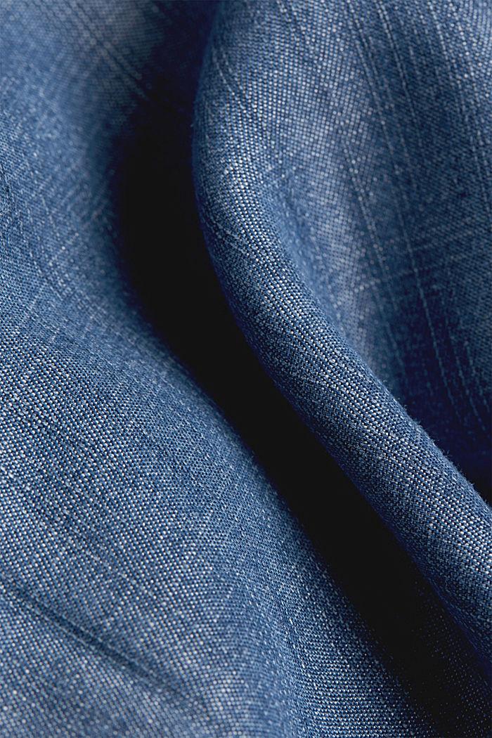 Layer-Kleid aus TENCEL™, BLUE DARK WASHED, detail image number 4