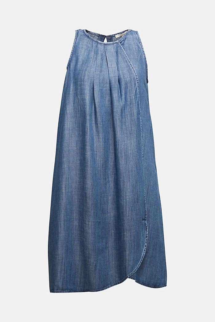 Layer-Kleid aus TENCEL™, BLUE DARK WASHED, detail image number 5