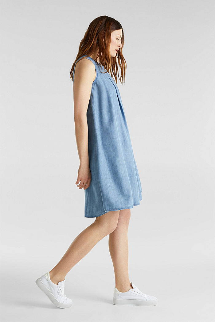 Layered dress made of TENCEL™, BLUE LIGHT WASHED, detail image number 0