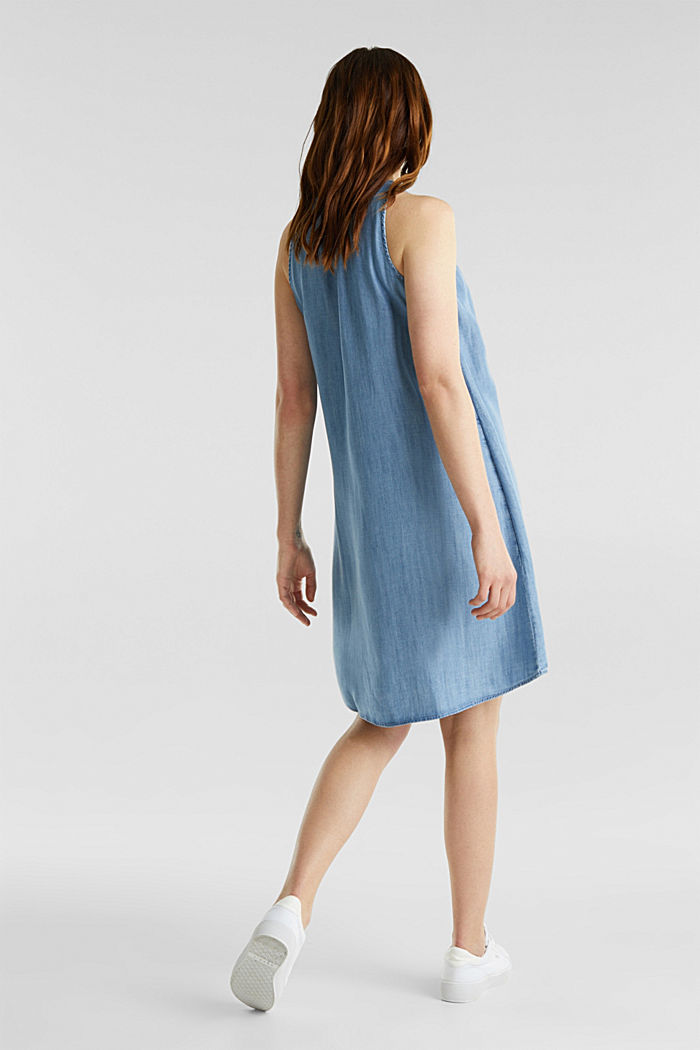 Layered dress made of TENCEL™, BLUE LIGHT WASHED, detail image number 2