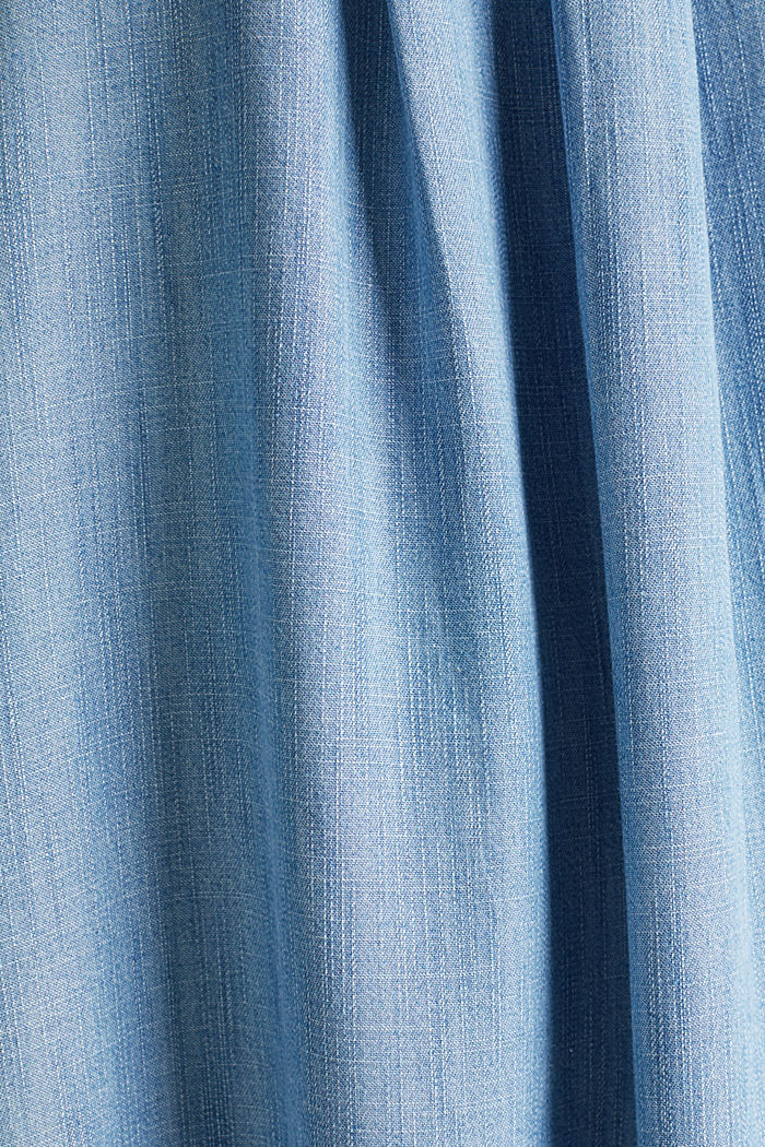 Layered dress made of TENCEL™, BLUE LIGHT WASHED, detail image number 4