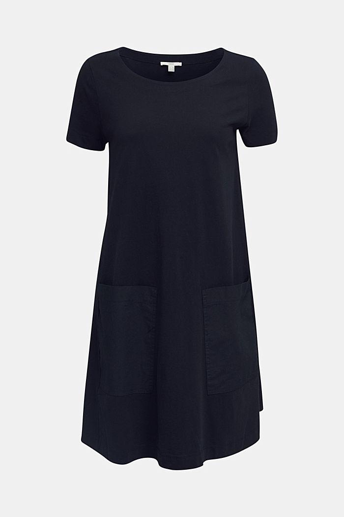 A-line dress made of 100% cotton, BLACK, detail image number 5