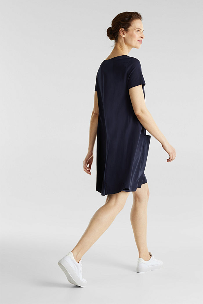 A-line dress made of 100% cotton, NAVY, detail image number 2