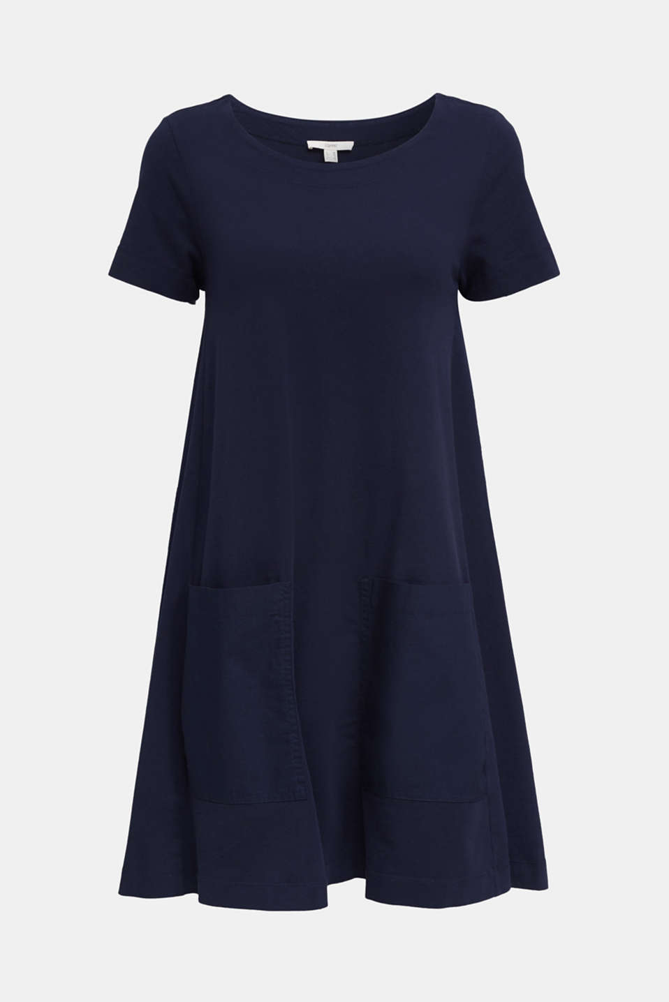 A-line dress made of 100% cotton, NAVY, detail image number 6
