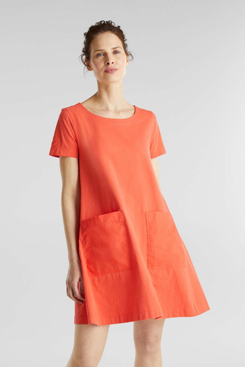 Esprit - Kleid in A-Linie, 15% Baumwolle im Online Shop kaufen