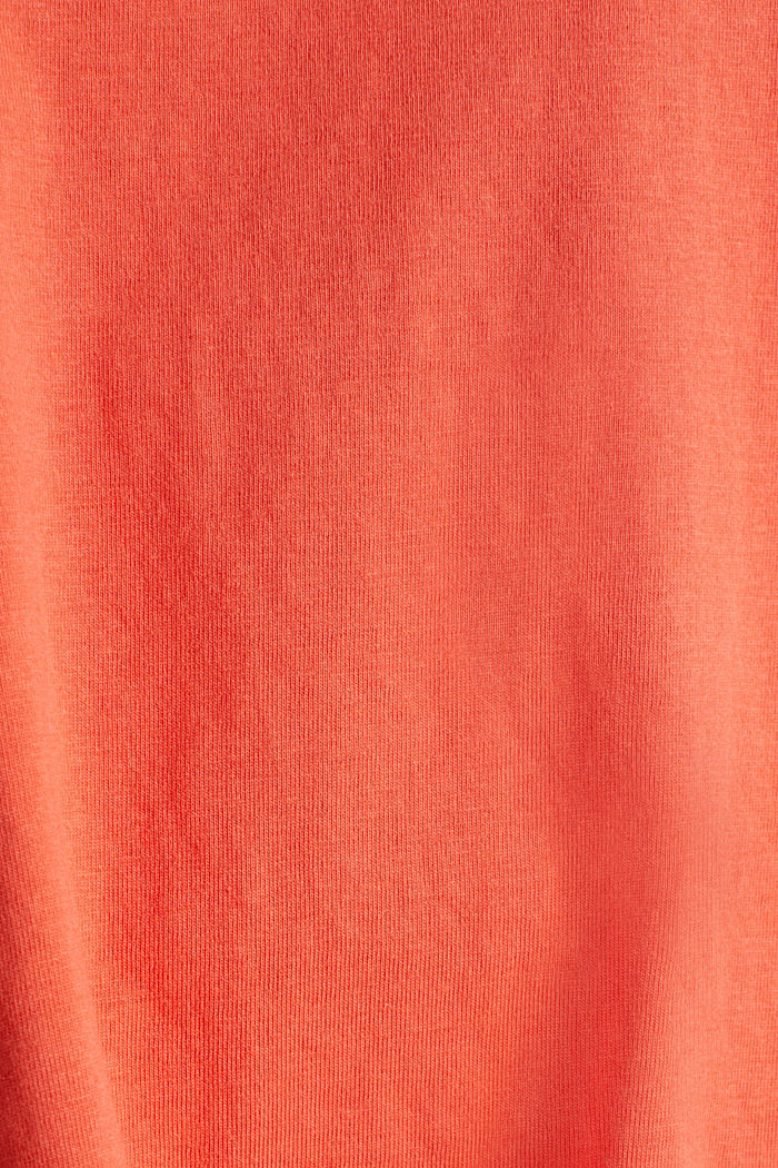 A-line dress made of 100% cotton, CORAL, detail image number 4