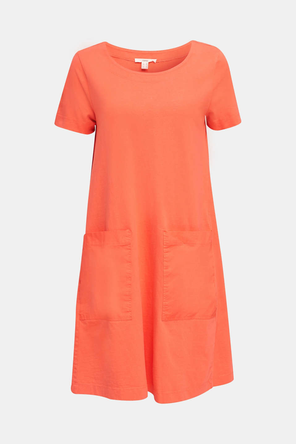 A-line dress made of 100% cotton, CORAL, detail image number 5
