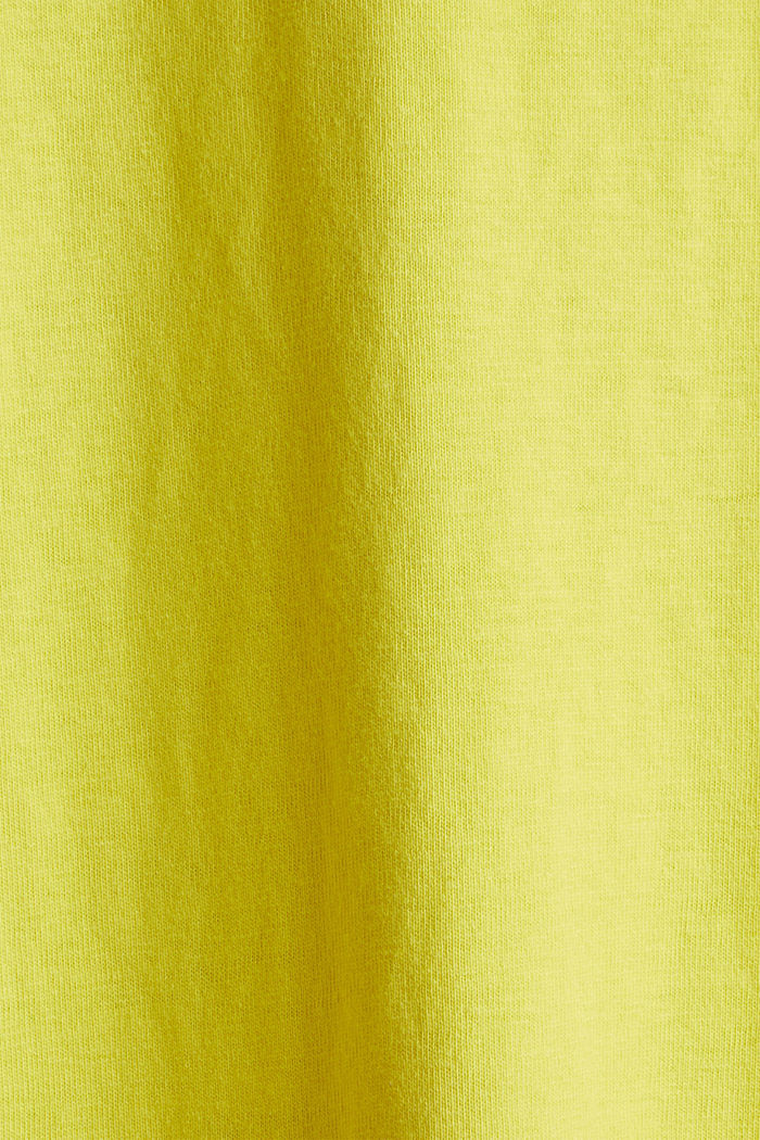 A-line dress made of 100% cotton, BRIGHT YELLOW, detail image number 4