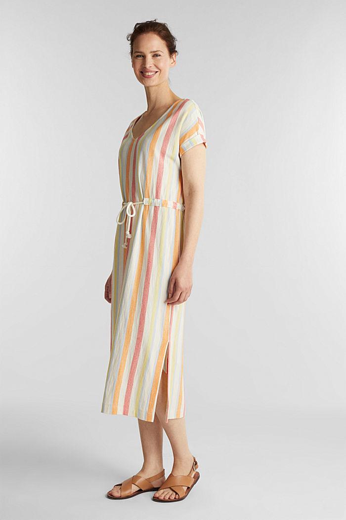 Blended linen kaftan dress, WHITE, detail image number 0