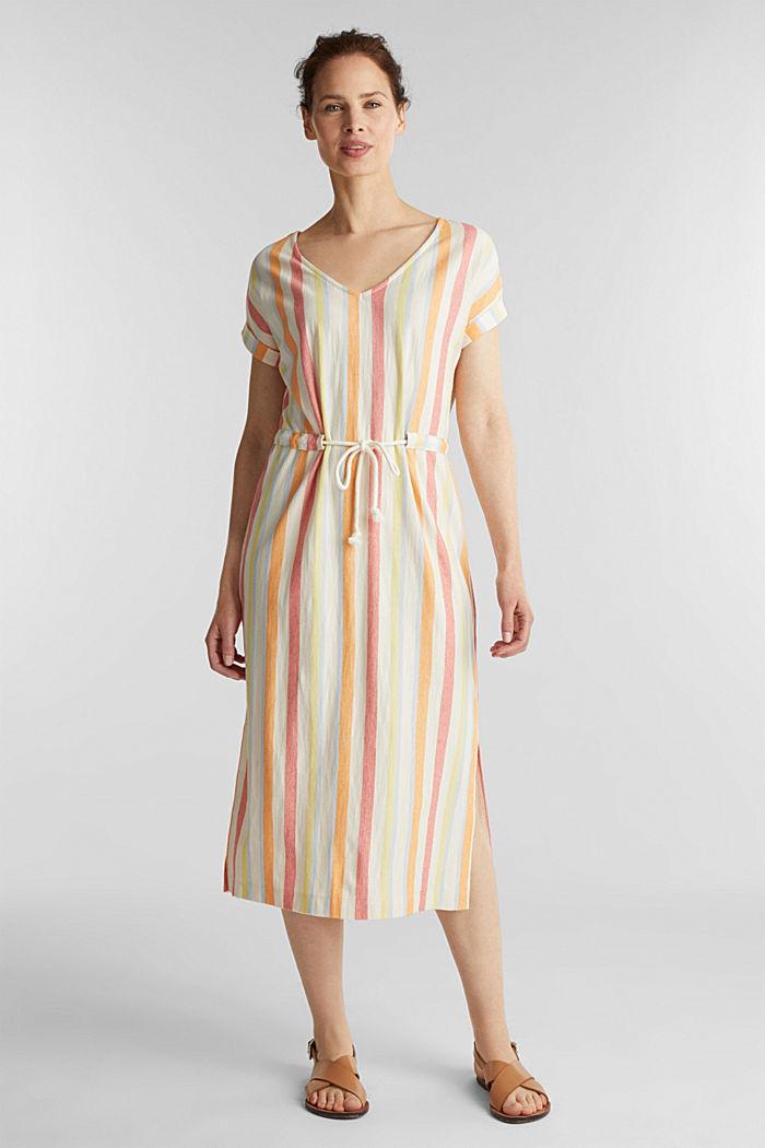 Blended linen kaftan dress, WHITE, detail image number 1