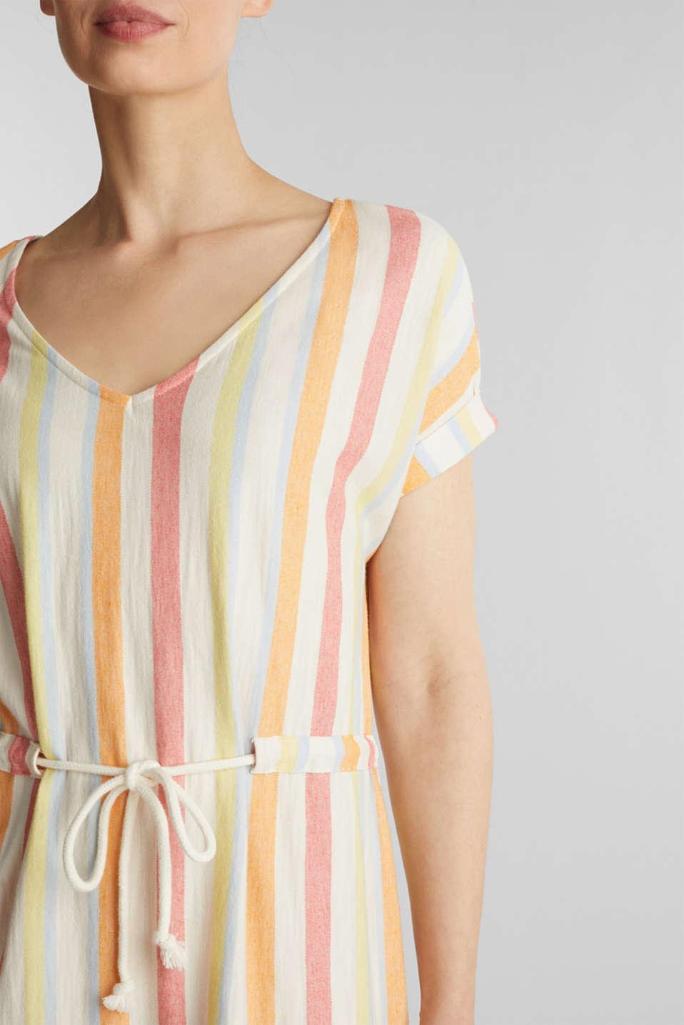 Blended linen kaftan dress, WHITE, detail image number 3