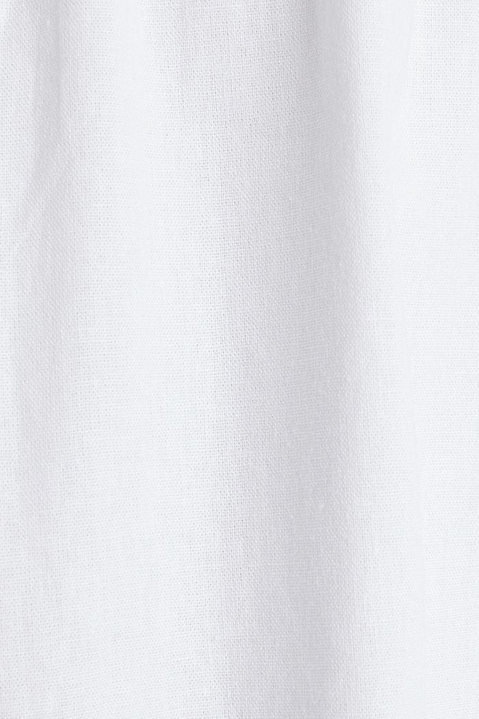 In misto lino: abito basic, WHITE, detail image number 3
