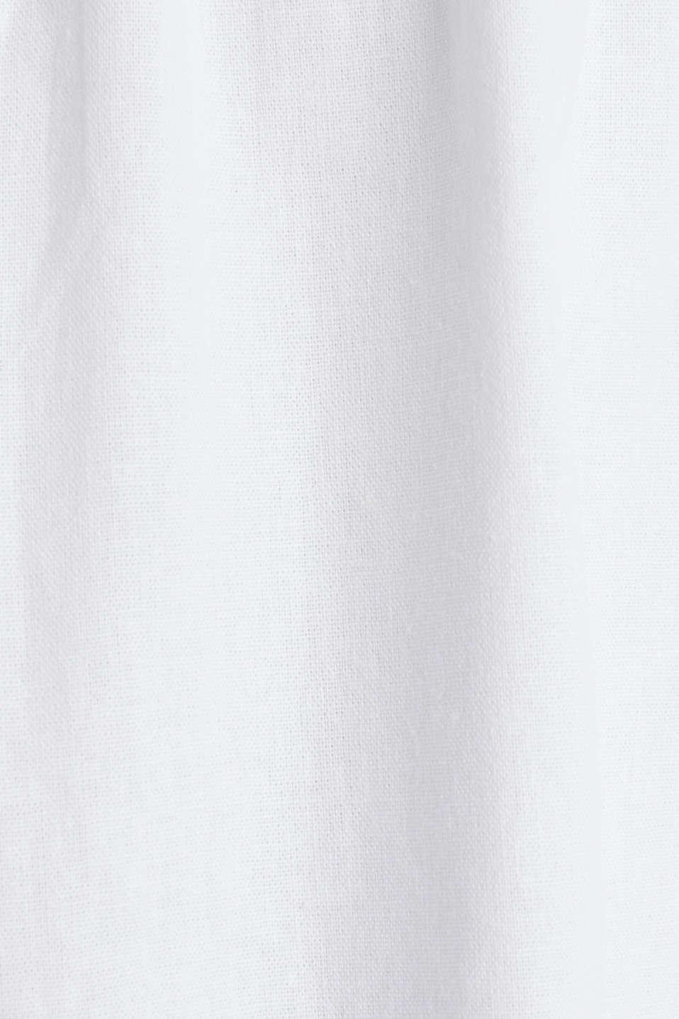 Linen blend: basic dress, WHITE, detail image number 3