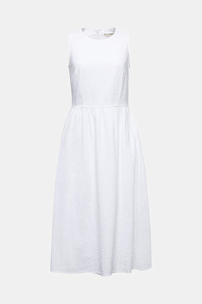 Linen blend: basic dress