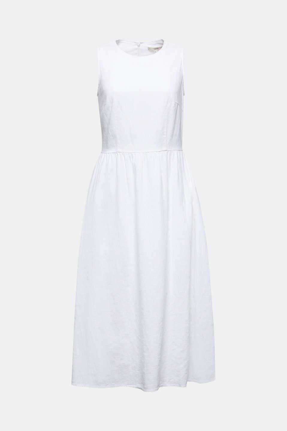 Linen blend: basic dress, WHITE, detail image number 5