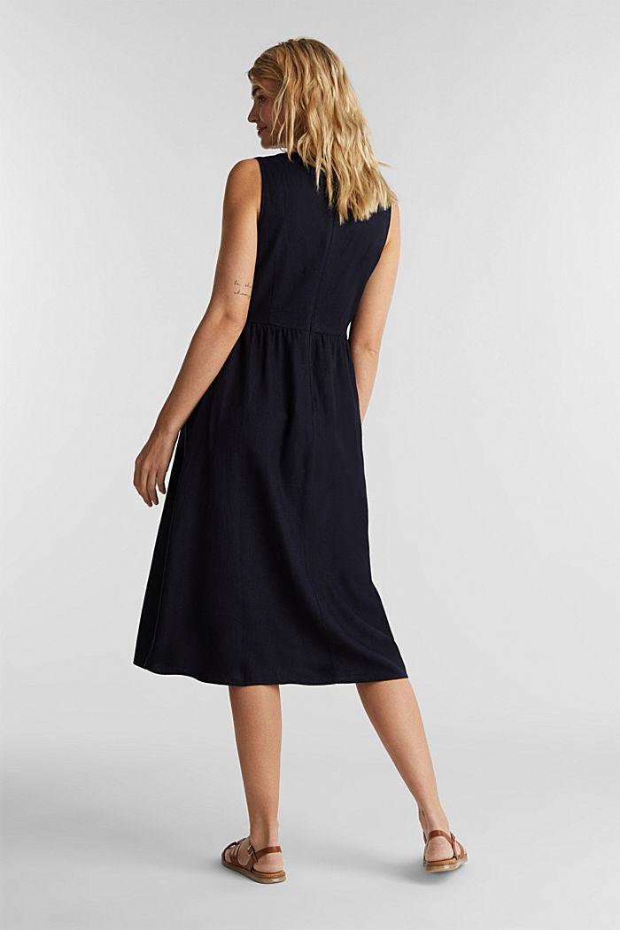 Linen blend: basic dress, NAVY, detail image number 2