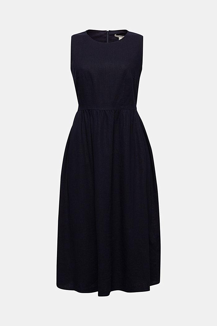 Linen blend: basic dress, NAVY, detail image number 4