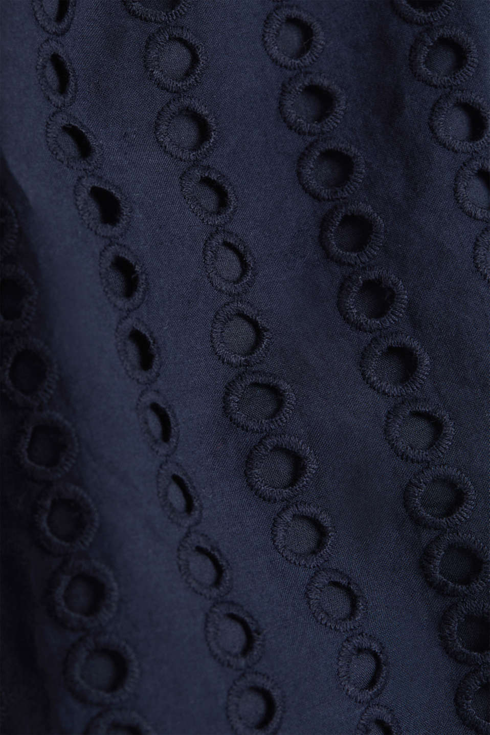 Dress with broderie anglaise, 100% cotton, NAVY, detail image number 4
