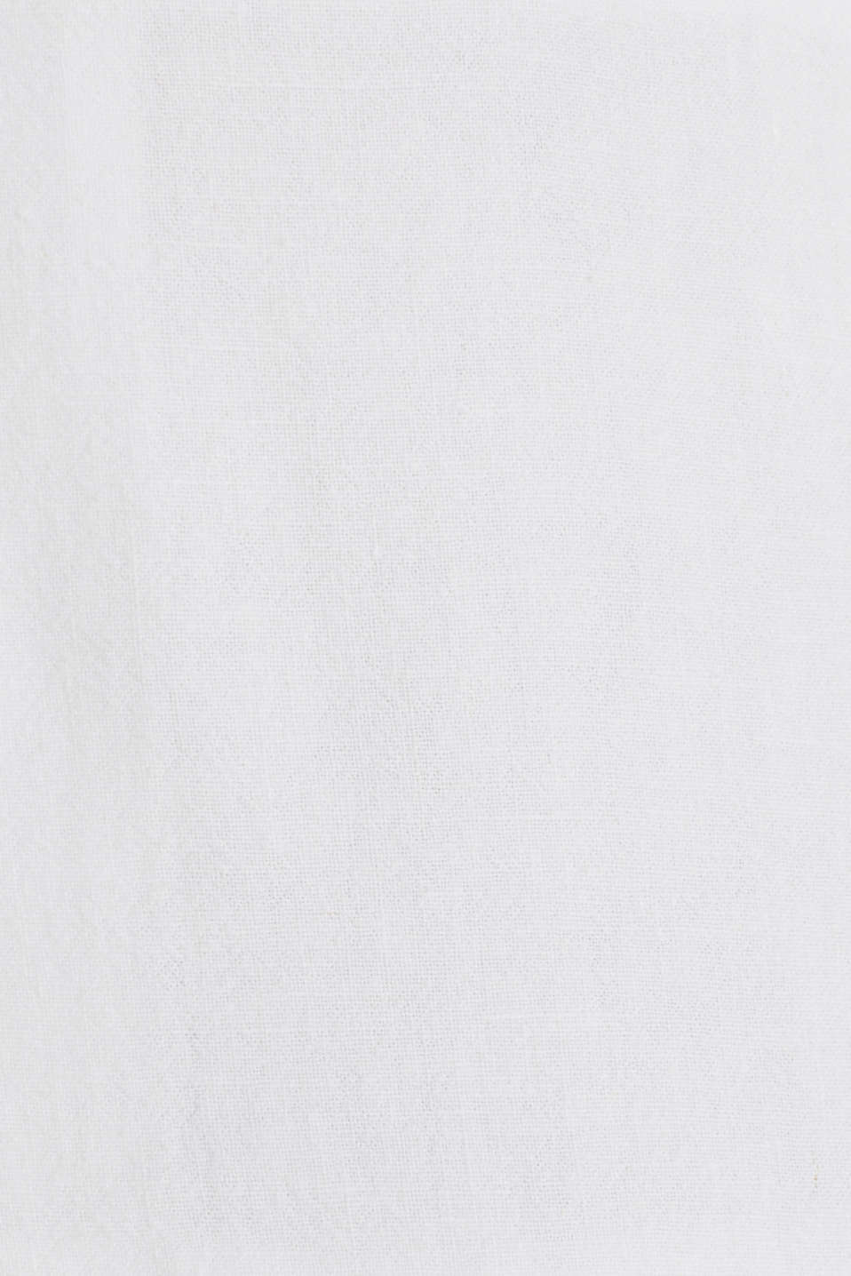 Blended linen: midi dress with a button placket, WHITE, detail image number 2