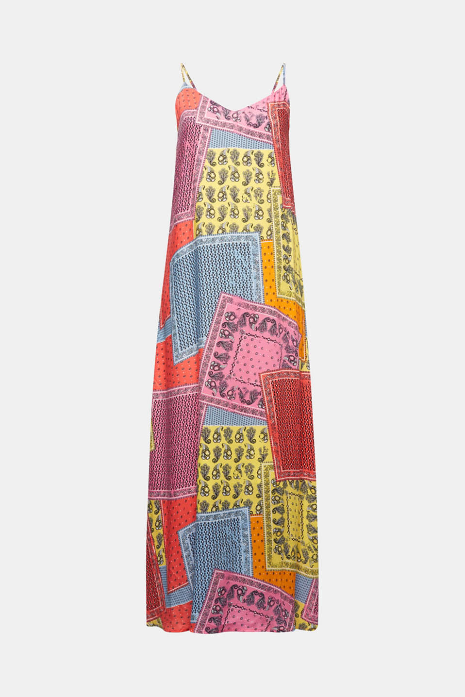 Maxi dress with a bandana print, CORAL 4, detail image number 7