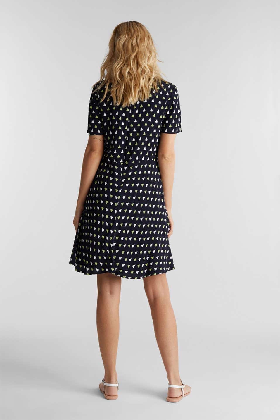 LENZING™ ECOVERO™ printed dress, NAVY 4, detail image number 2