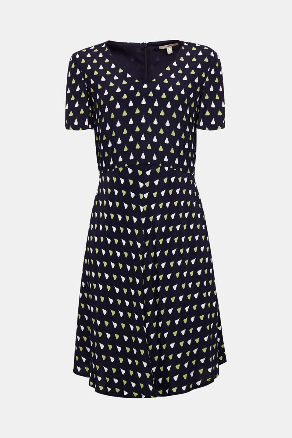 LENZING™ ECOVERO™ printed dress, NAVY 4, detail image number 4