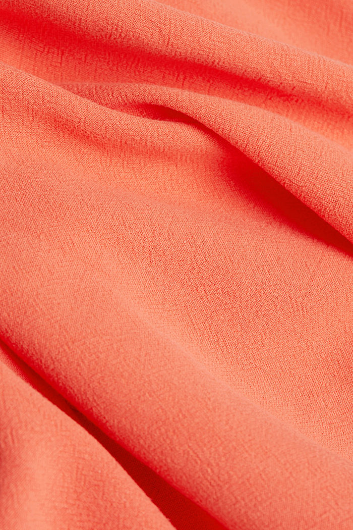 With linen: dress with a high-low hem, CORAL, detail image number 4