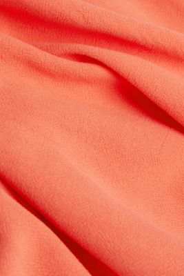 With linen: dress with a high-low hem, CORAL, detail