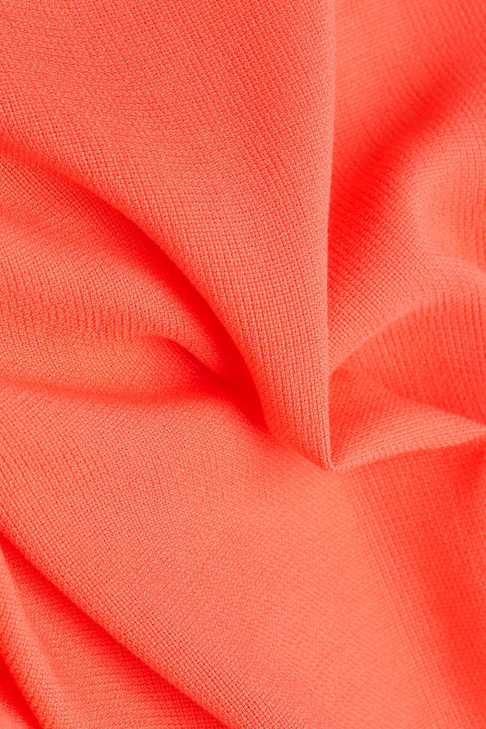 Dress with a high-low hem, CORAL, detail image number 4