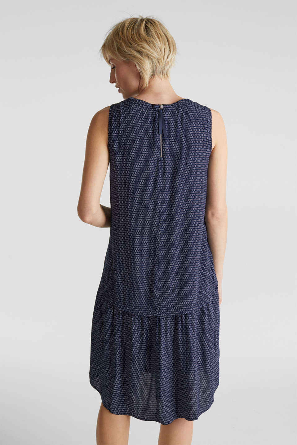 LENZING™ ECOVERO™ flounce dress, NAVY 3, detail image number 3