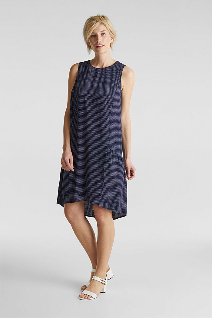 LENZING™ ECOVERO™ flounce dress, NAVY, detail image number 1