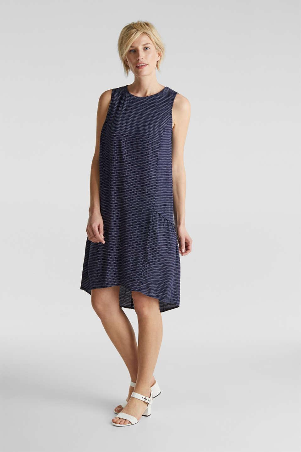 LENZING™ ECOVERO™ flounce dress, NAVY 3, detail image number 1
