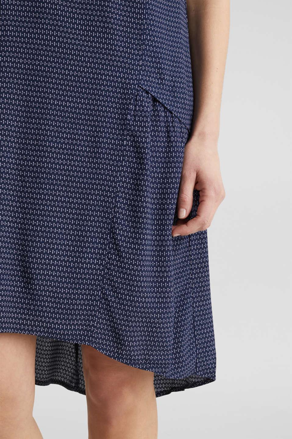 LENZING™ ECOVERO™ flounce dress, NAVY 3, detail image number 2