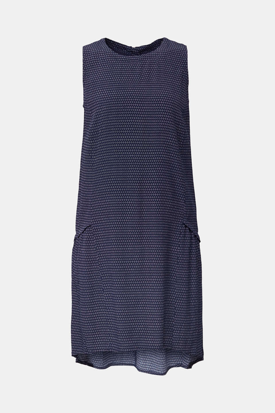 LENZING™ ECOVERO™ flounce dress, NAVY 3, detail image number 7