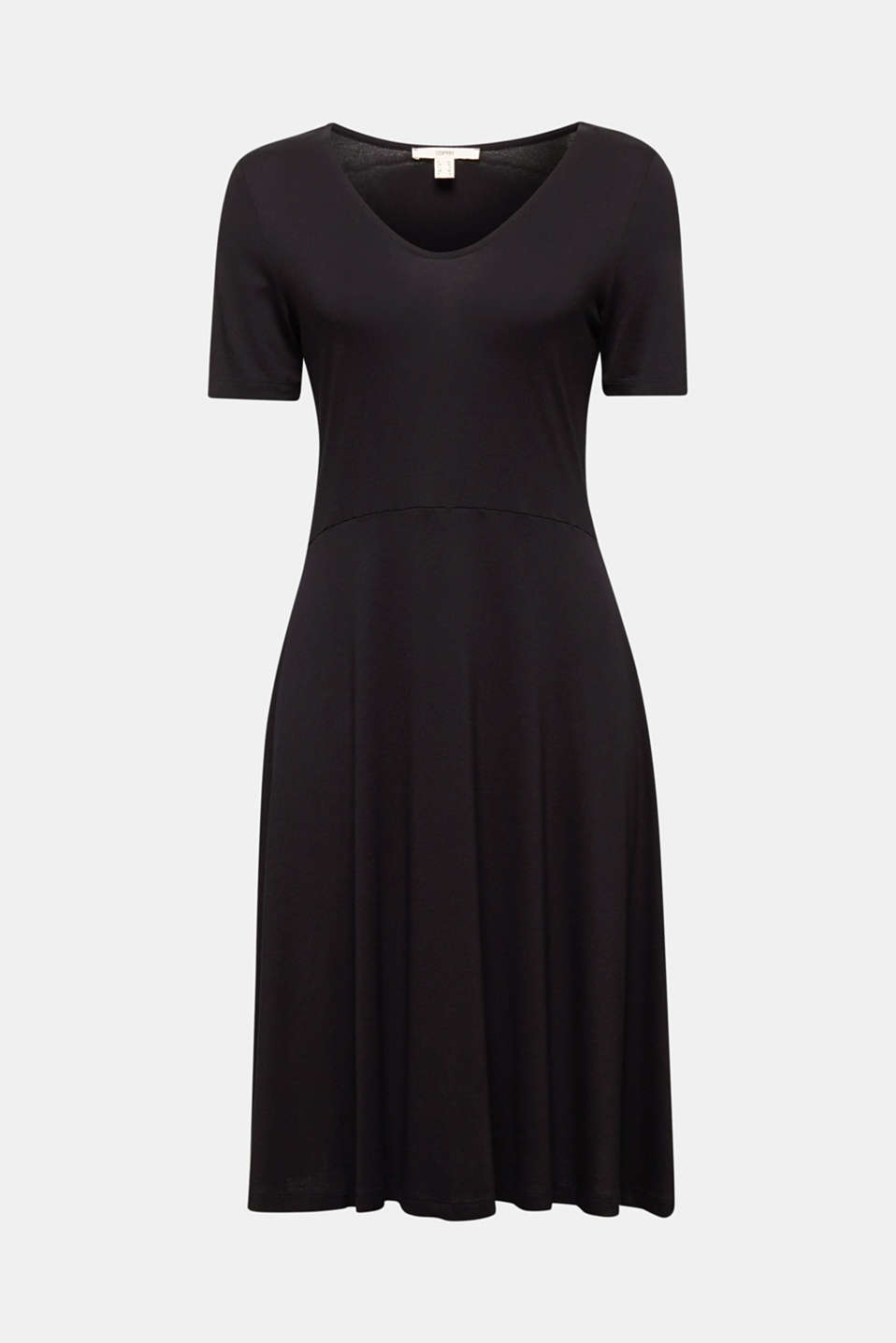 Jersey dress with waist ties, BLACK, detail image number 4