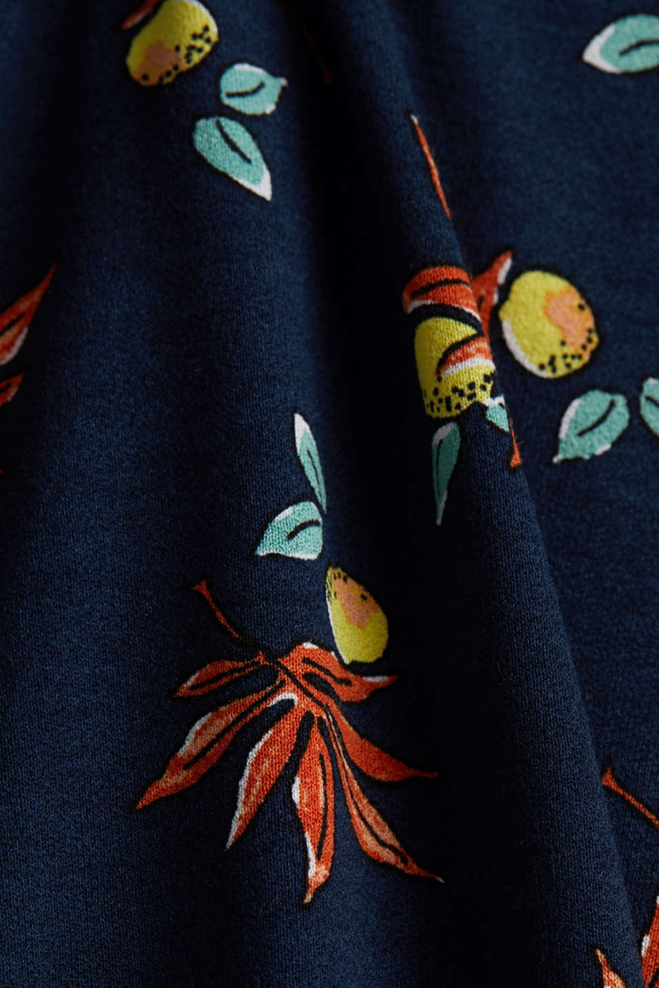 Stretch jersey dress with a print, NAVY, detail image number 4