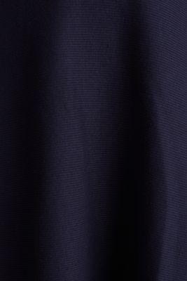 Ribbed stretch jersey dress, NAVY, detail