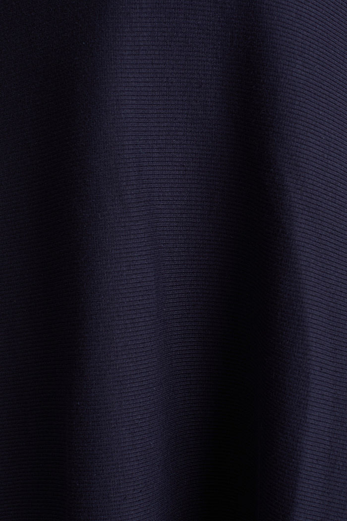 Ripp-Kleid aus Jersey-Stretch, NAVY, detail image number 4