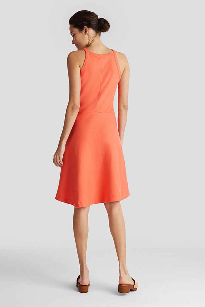 Ribbed stretch jersey dress, CORAL RED, detail image number 2