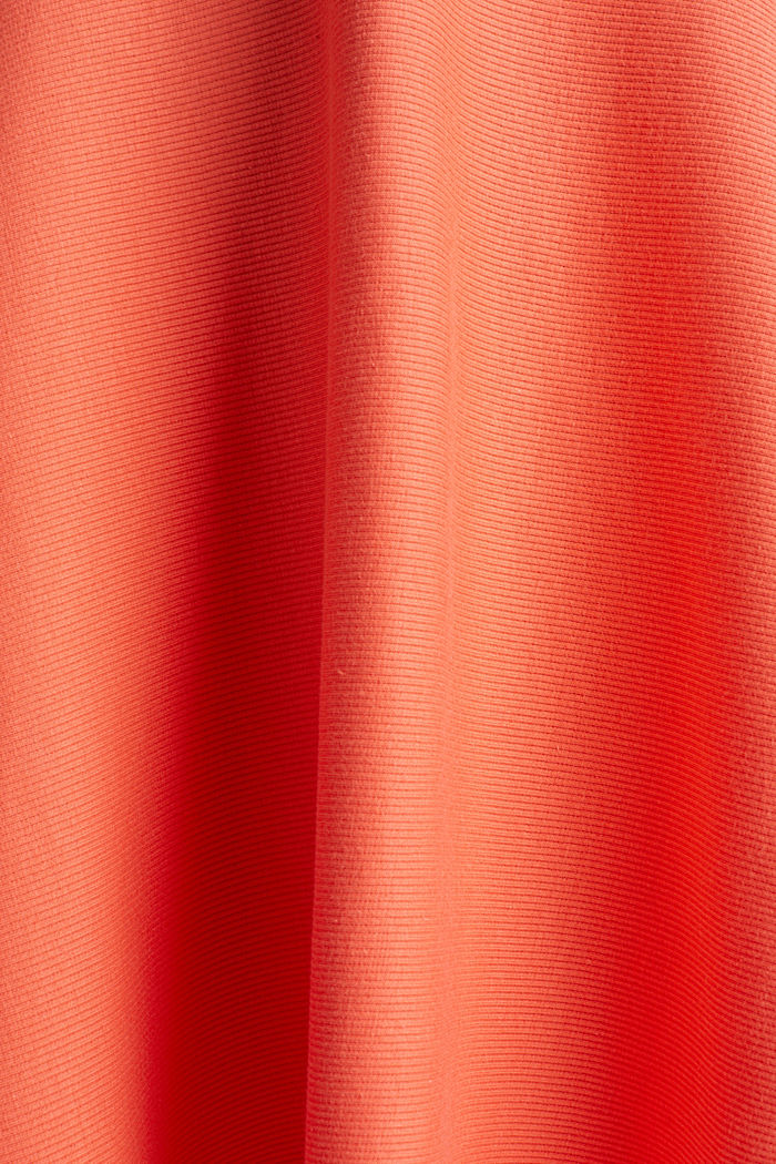 Ribbed stretch jersey dress, CORAL RED, detail image number 4