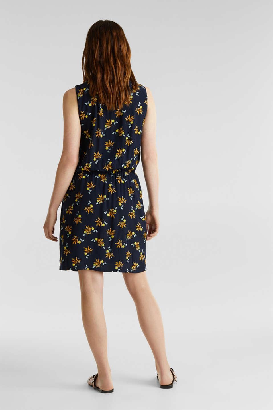 Crêpe dress, LENZING™ ECOVERO™, NAVY 5, detail image number 2
