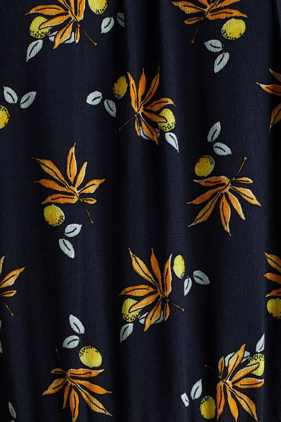 Crêpe dress, LENZING™ ECOVERO™, NAVY 5, detail image number 4