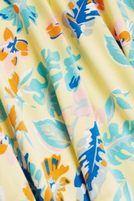 Print dress in jersey, LIME YELLOW 4, detail