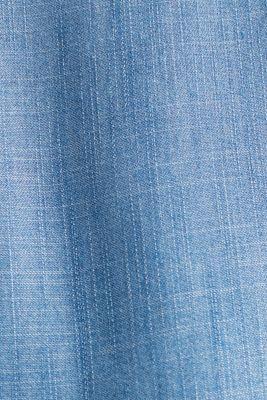 Made of TENCEL™: Denim blouse top, BLUE MEDIUM WASH, detail