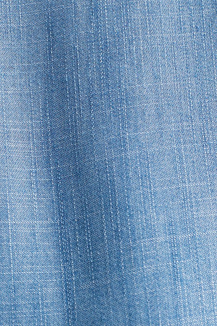 Aus TENCEL™: Denim-Blusentop, BLUE MEDIUM WASHED, detail image number 4