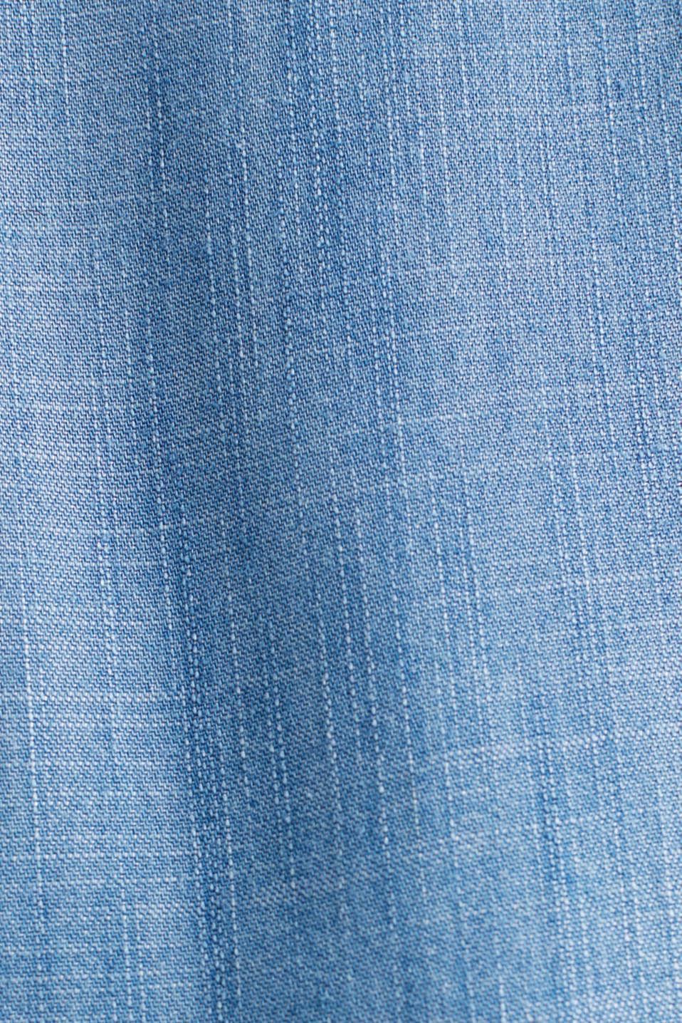 Made of TENCEL™: Denim blouse top, BLUE MEDIUM WASH, detail image number 4