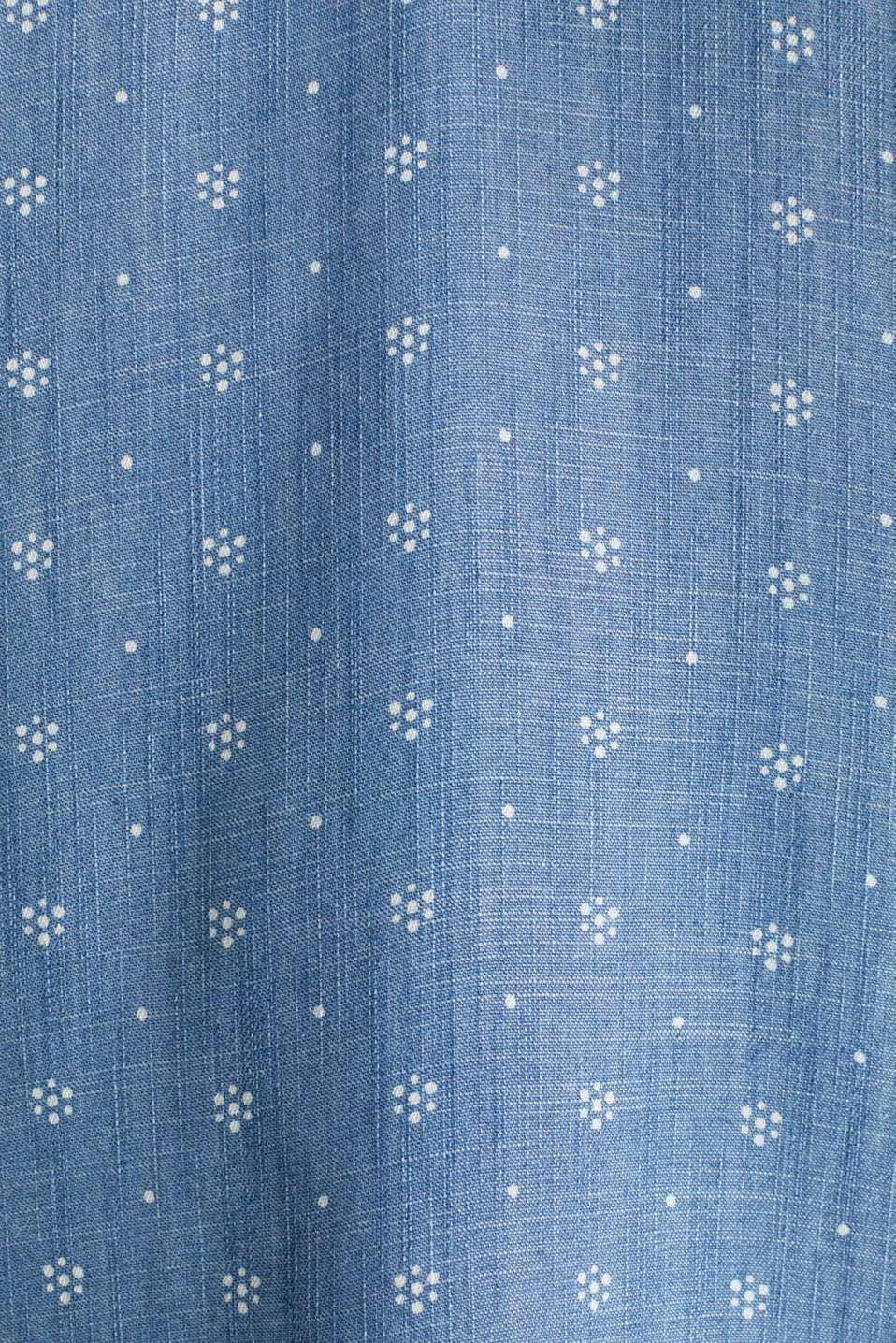 Made of TENCEL™: top in a denim look, BLUE MEDIUM WASH, detail image number 4