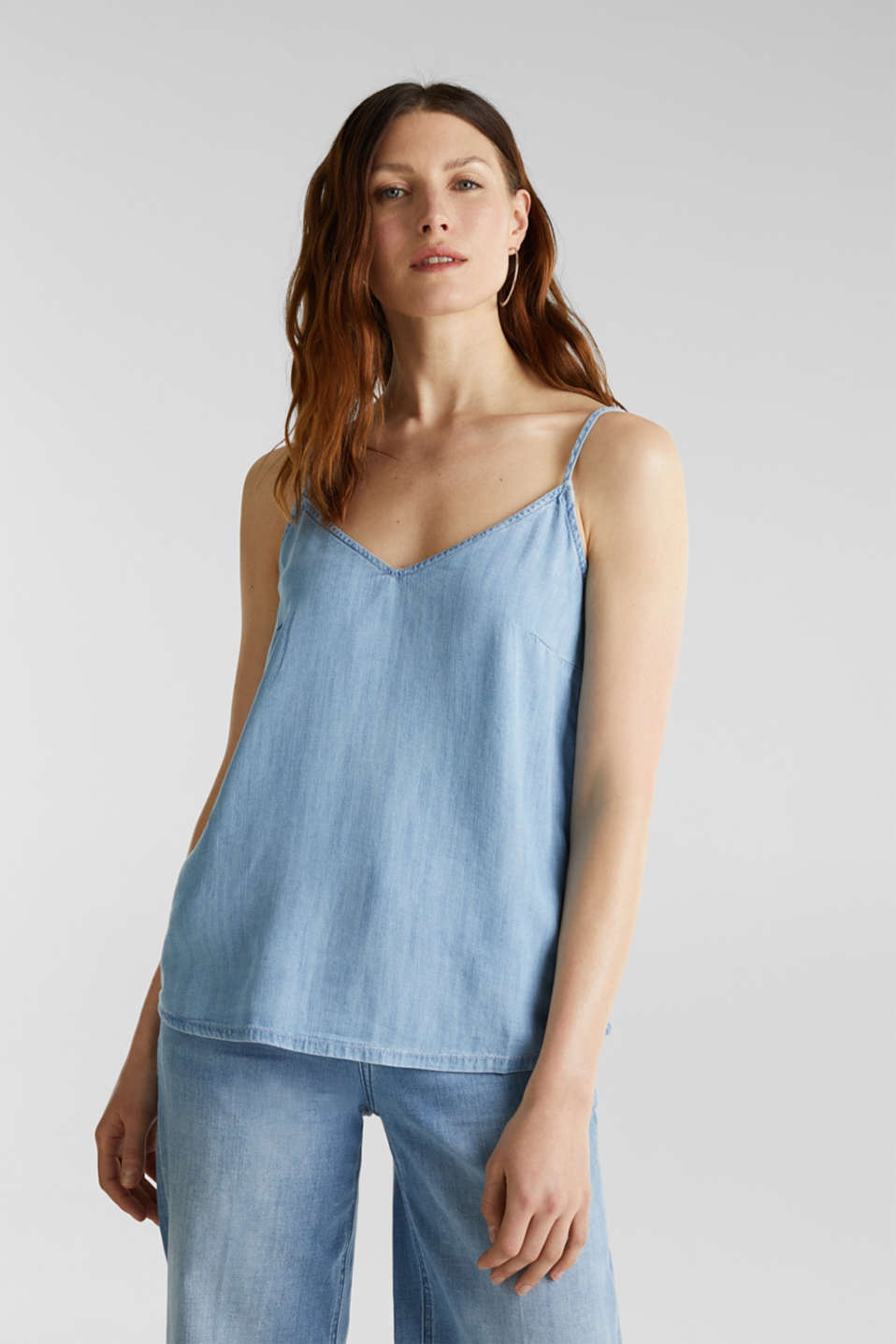 Esprit - I TENCEL™: Top i denimlook