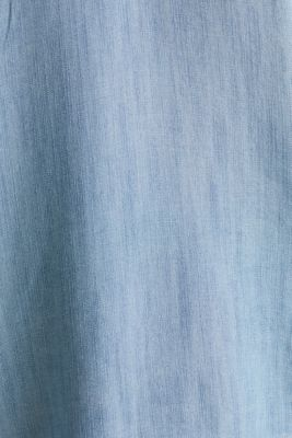 Made of TENCEL™: top in a denim look, BLUE BLEACHED, detail