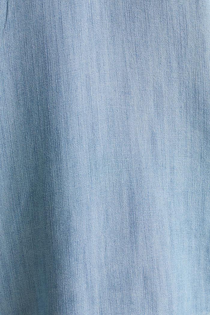 Aus TENCEL™: Top in Denim-Optik, BLUE BLEACHED, detail image number 4